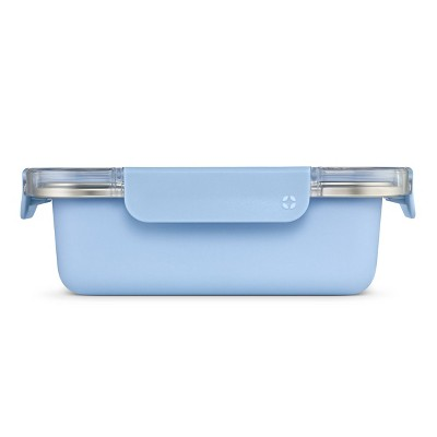 Ello 4 Cup Stainless Steel Food Storage Container - Light Blue