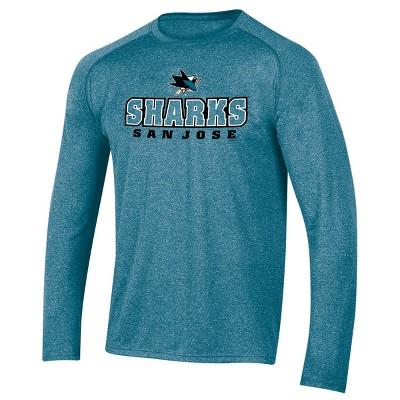 NHL San Jose Sharks Men's Goal Scorer Long Sleeve Performance T-Shirt S