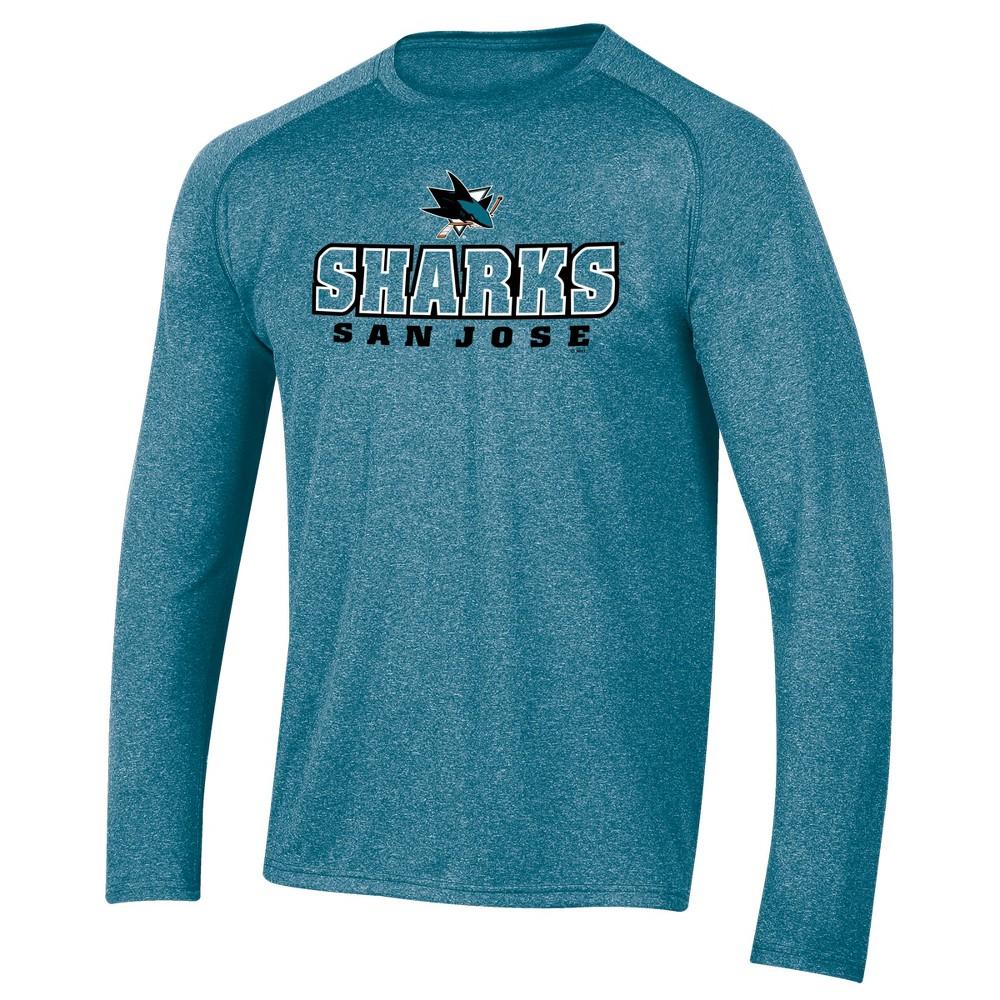 San Jose Sharks Men's Goal Scorer Long Sleeve Performance T-Shirt XL, Multicolored