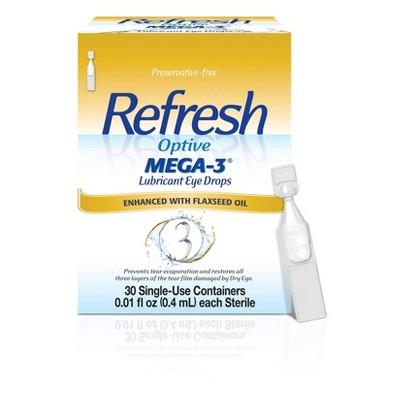 Refresh Optive Mega-3 Preservative Free Eye Drops - 30ct