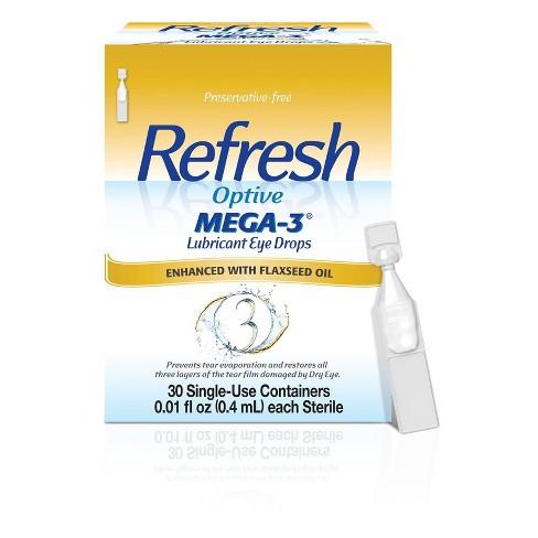 Refresh Optive Mega-3 Preservative Free Eye Drops - 30ct - image 1 of 4