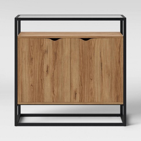 Ada Mixed Material 2 Door Cabinet with Glass - Project 62™ - image 1 of 4