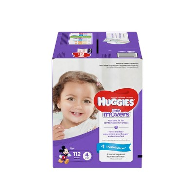 Huggies Little Movers Diapers - Size 4 (112ct)