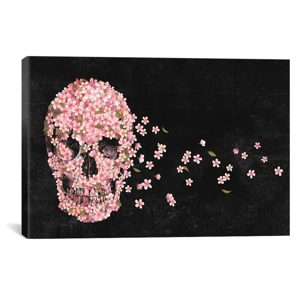 A Beautiful Death Landscape by Terry Fan Canvas Print (12x 18), Black Pink Green