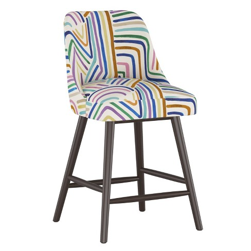 Geller Counter Height Barstool Rainbow Strokes Ochre - Project 62™ - image 1 of 4