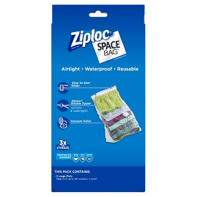 Ziploc 3-pack Space Bag (Large), Clear