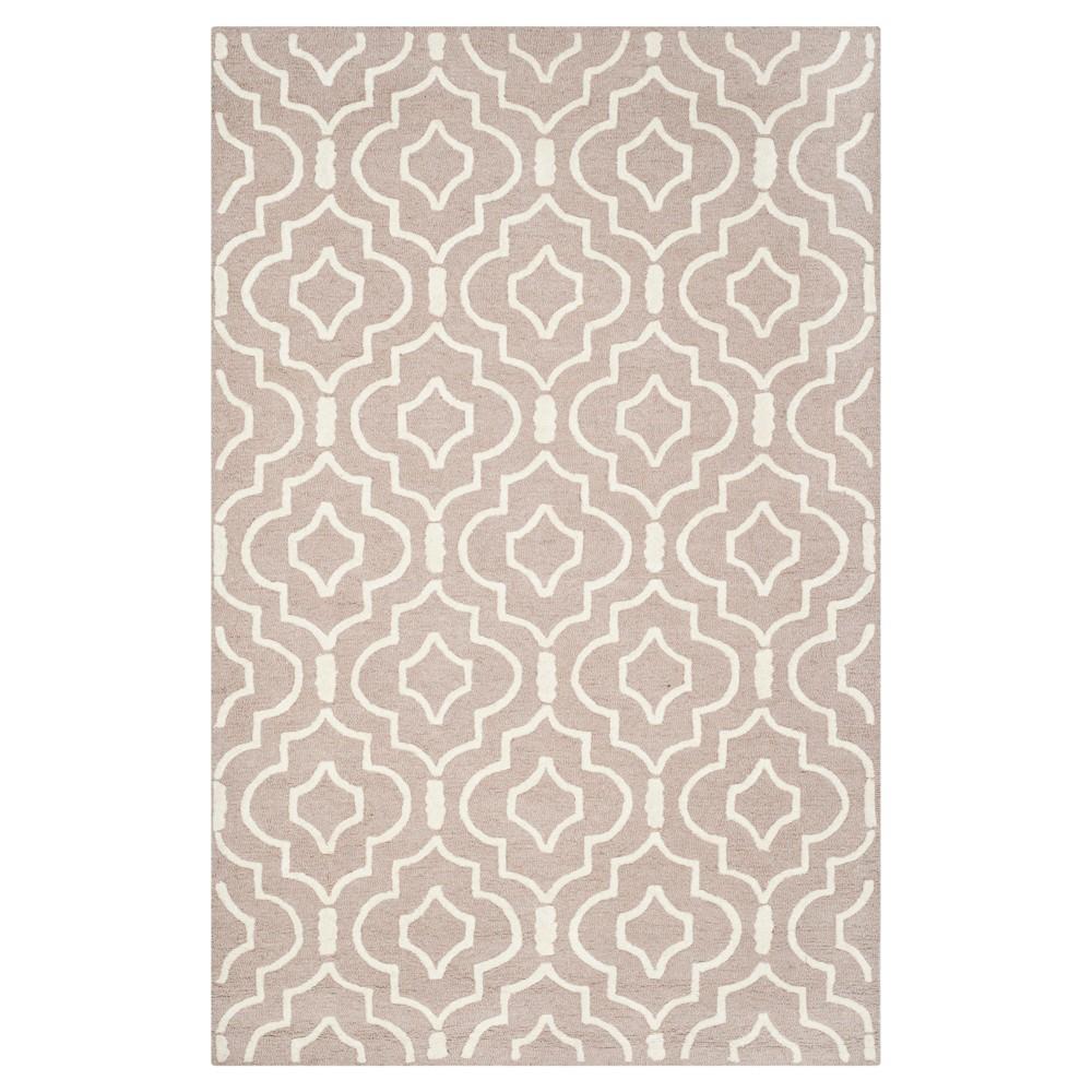 Tahla Texture Wool Rug - Beige / Ivory (4' X 6') - Safavieh, Beige/Ivory