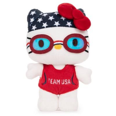 """GUND Hello Kitty Team USA Swimmer 6"""" Plush"""