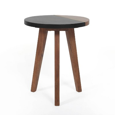 Caspian Round Accent End Table Brown - Steve Silver Co.
