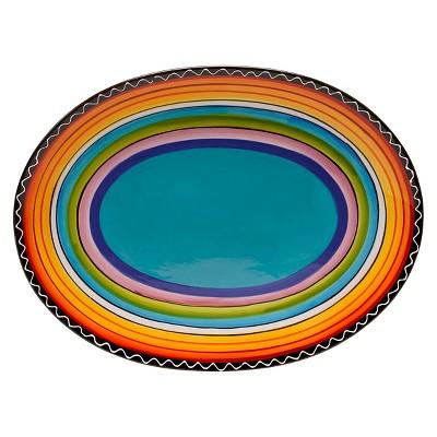 Certified International Tequila Sunrise Oval Platter (16  x 12 )