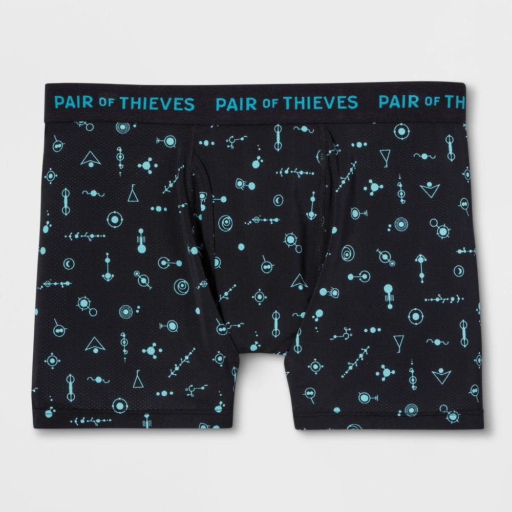 Pair of Thieves Men's SF Is This Chemistry Boxer Briefs - Black L, Black Blue