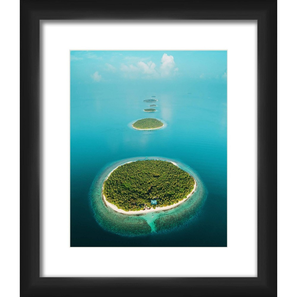 13 34 X 15 34 Matted To 2 34 Water Island Picture Framed Black Ptm Images