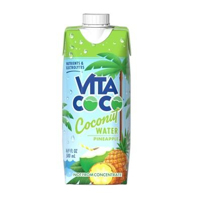 Vita Coco Pure Coconut Water Pineapple - 16.9 fl oz Carton