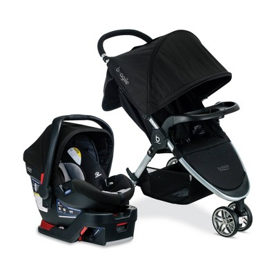 Britax B-Agile And B-Safe 35 Dual Comfort Travel System - Gray/Black