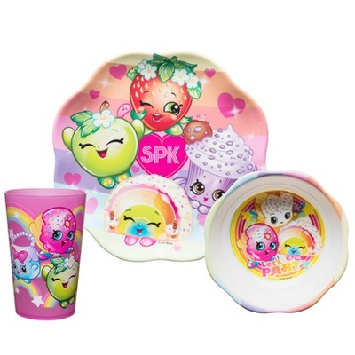 Shopkins Set 3pc Melamine Dinnerware - Zak Designs