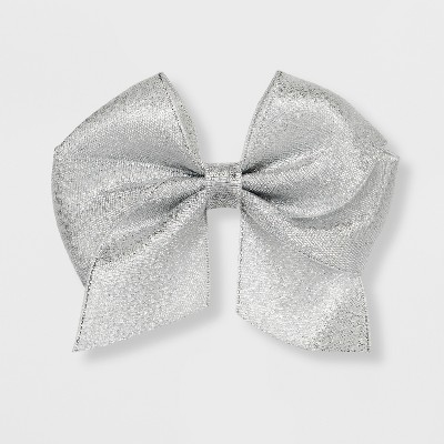 Girls' Solid Bow Clip - Cat & Jack™ Silver