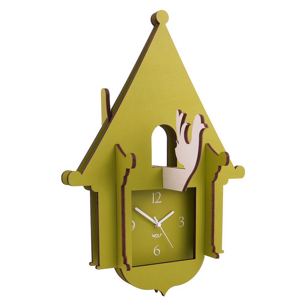 Image of Jigsaw Cuckoo Clock Green - WOLF