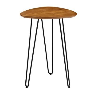 "18"" Hairpin Leg Wood Side Table - Walnut - Saracina Home"