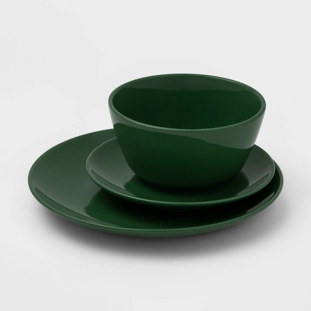 Image of 12pc Ceramic Avesta Dinnerware Set Green - Project 62