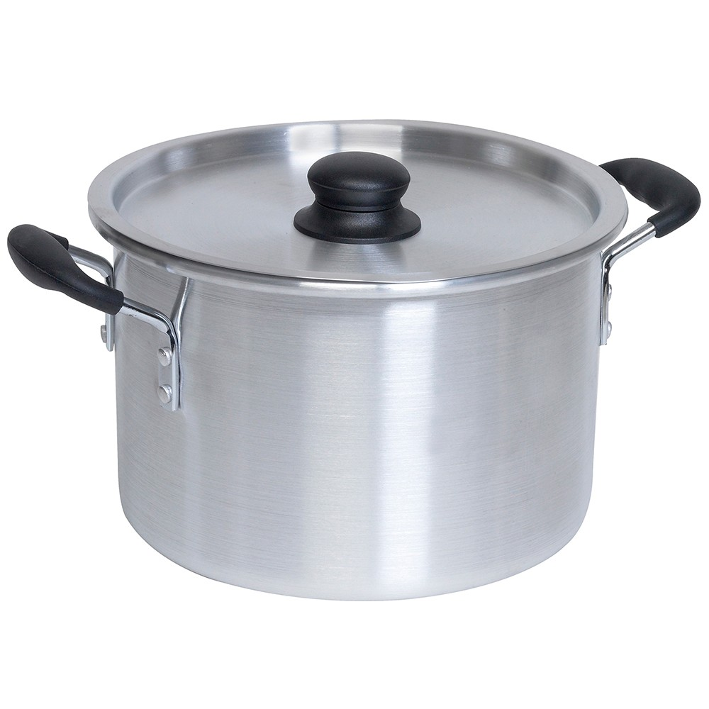 Imusa 12qt Stock Pot with Bakelite Handles, Silver