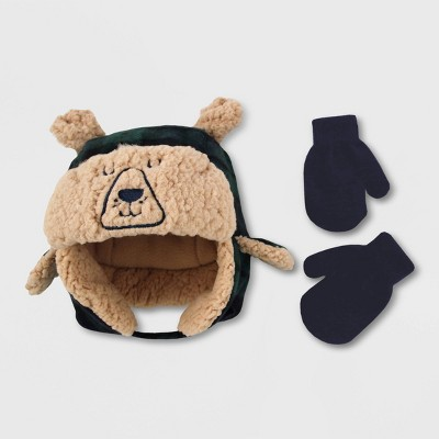 Baby Boys' Hat And Glove Set - Cat & Jack™ Blissful Moss 2T-5T
