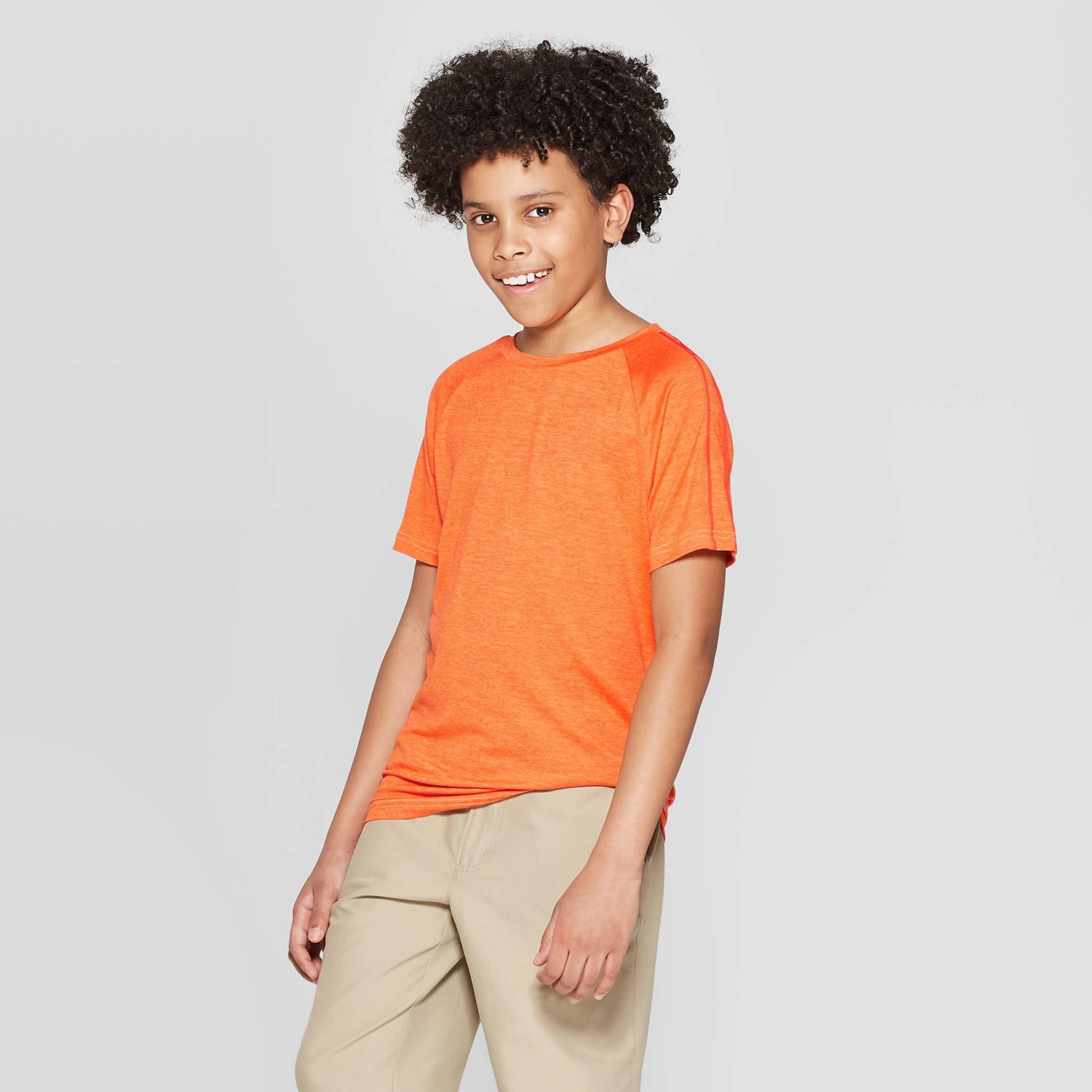 Boys' Super Soft Tech T-Shirt - C9 Champion Orange S, Boy's, Size: Small
