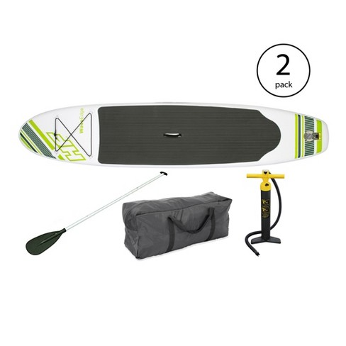 "Bestway Inflatable Hydro Force Wave Edge 122"" x 27"" Paddle Board, Green (2 Pack) - image 1 of 6"