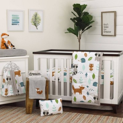 NoJo Dreamer Little Woodland Friends Nursery Crib Bedding Set - 8pc