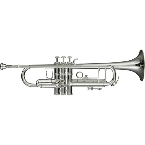 Levante LV-TR6301 Bb Professional Trumpet with Monel Valves - Silver Plated Silver plated Gold Brass Bell - image 1 of 1