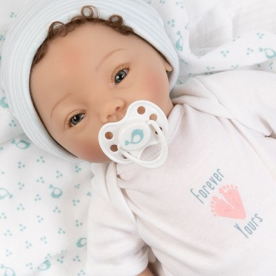 Paradise Galleries Realistic Newborn Doll - Forever Yours Miracle, 7-Piece Reborn Doll Gift Set with Magnetic Pacifier