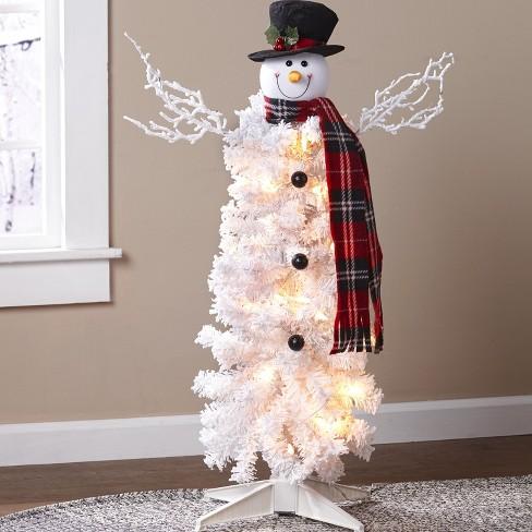 "Lakeside Small Prelit Snowman Christmas Tree in White - 3' x 36"" - image 1 of 1"