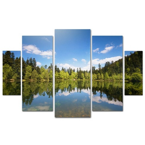 'Lake Maix' by Philippe Sainte-Laudy Ready to Hang Multi Panel Art Set - image 1 of 3