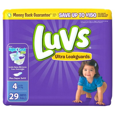 Luvs Disposable Diapers Jumbo Pack - Size 4 (29ct)