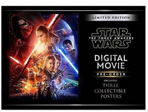 Star Wars: The Force Awakens Limited Edition (Digital Copy) & 3 Collectible Movie Posters - image 1 of 2