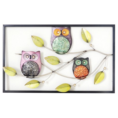 Wall Decor-Owls on Branch - Home Source - image 1 of 2