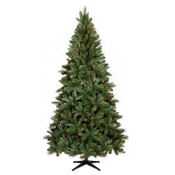 brand new 77bba 58b5c 9ft Pre-lit Artificial Christmas Tree Full Flocked Balsam ...
