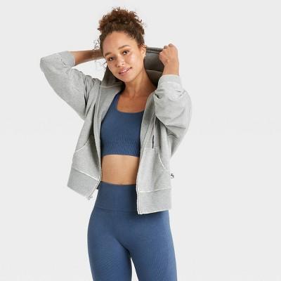 Women's Full Zip French Terry Acid Wash Hoodie - JoyLab™