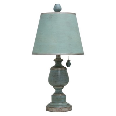 Chelsea Blue Accent Table Lamp with Fabric Shade  - StyleCraft