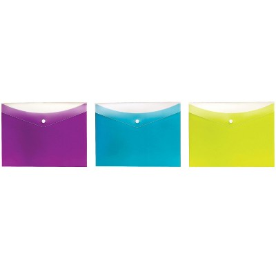 Pendaflex Dual-Pocket Snap Envelopes Letter Size Assorted Colors 95569