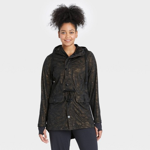 Women's Camo Print Water Resistant Jacket - All in Motion™ Green - image 1 of 4