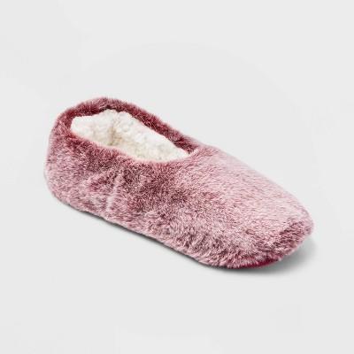 Women's Faux Fur Cozy Pull-On Slipper Socks