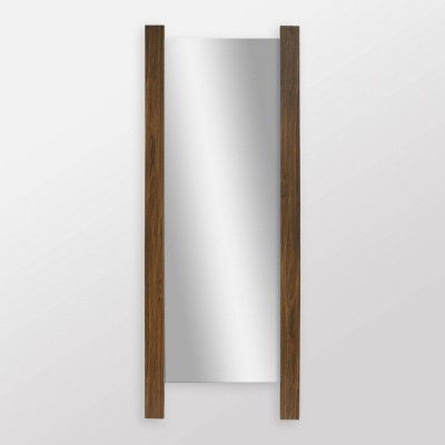Wooden Plank Mid Tone Full Length Floor Mirror Brown - Threshold™
