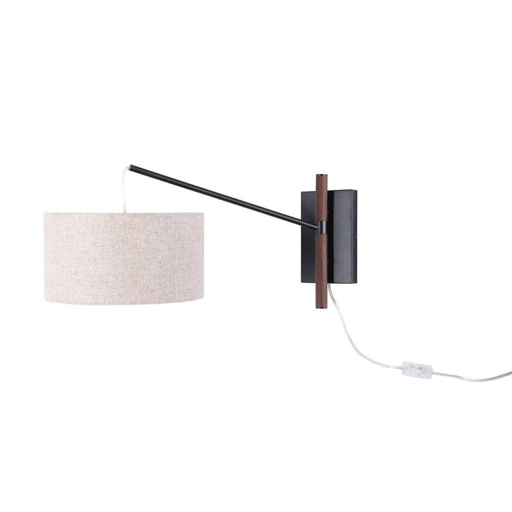 Caf Swing Arm Sconce Wall Light Includes Led Light Bulb Beige Project 62 8482