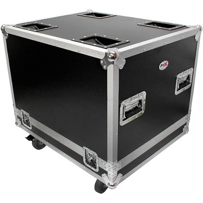 ProX ProX X-RCF-SUB8004AS RCF SUB 8004-AS Subwoofer Flight Case W/4 Inch Wheels