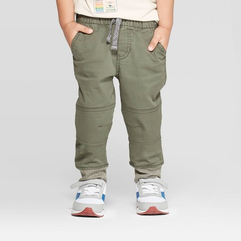 Toddler Boys' Pull-on Pants - Cat & Jack™ Olive - image 1 of 3