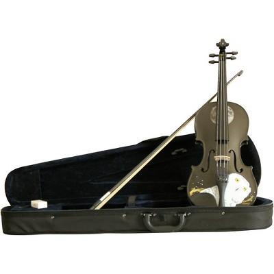 Rozanna's Violins Mystic Owl Black Glitter Series Violin Outfit 3/4
