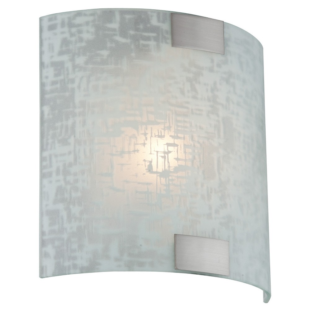Sancho Sconce Wall Light - Polished Steel (Silver) -Lite Source