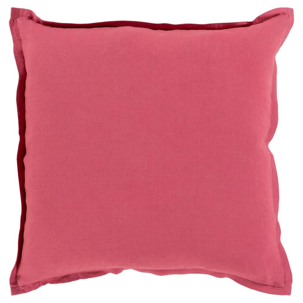Red Cesky Handmade Throw Pillow (22x22