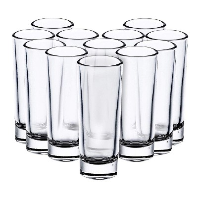 Juvale Bulk 24-Pack 2 Oz Clear Shooters Tall Party Shot Glasses for Parfaits, Tequila, Whiskey, Vodka