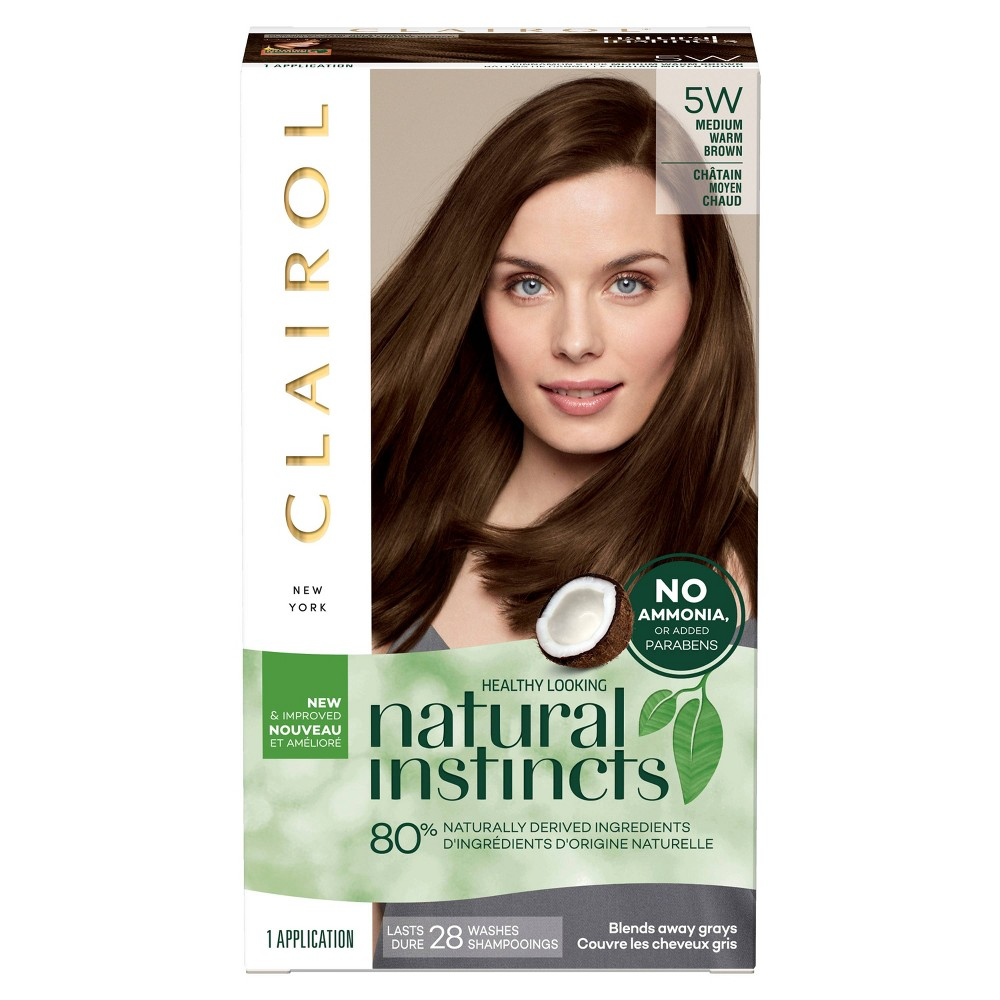 Image of Natural Instincts Clairol Non-Permanent Hair Color - 5W Medium Warm Brown, Cinnamon Stick - 1 Kit
